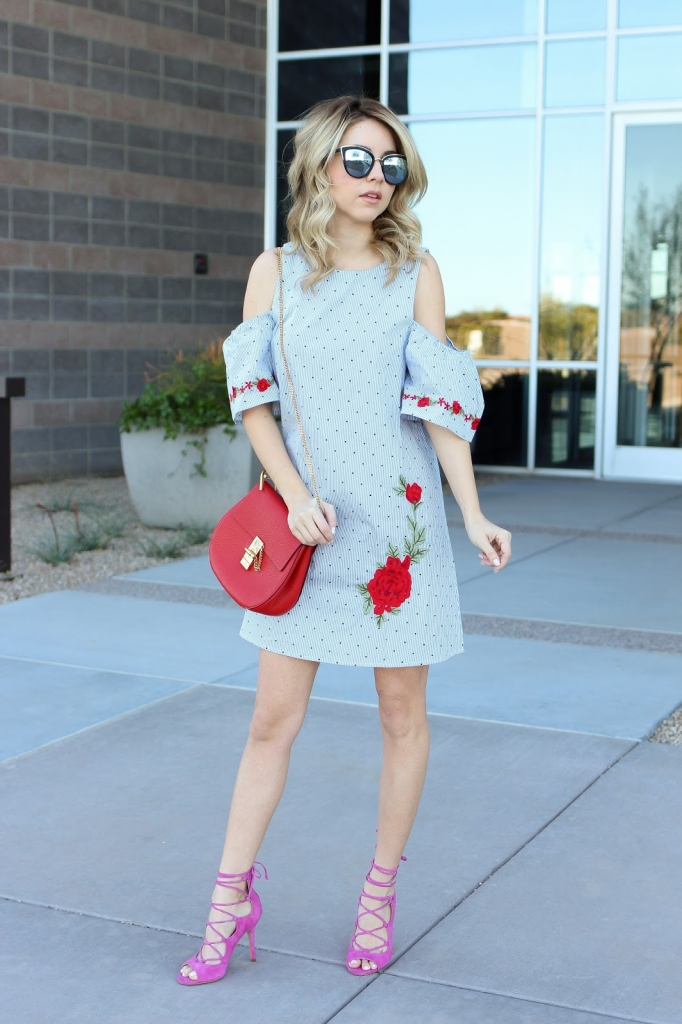 fashion blogger - spring style - rose dress - francesca outfit