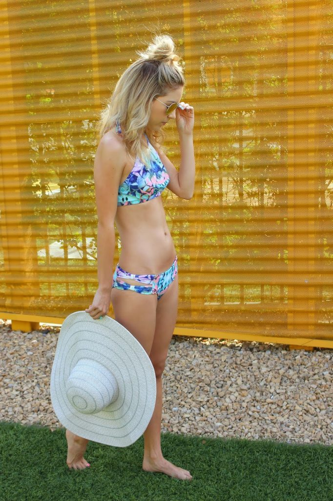 swim - floppy hat - bathing suit