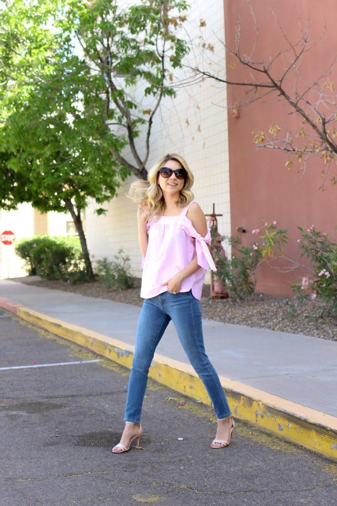 zero gravity jeans - banana republic - heels - street style