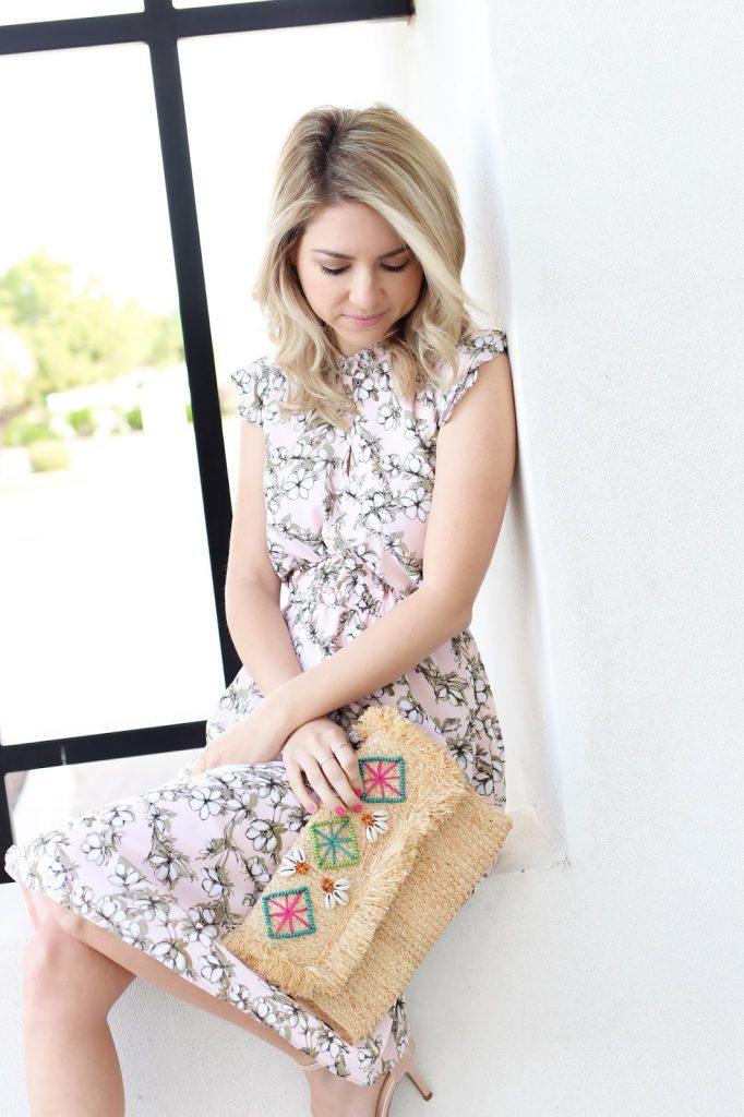 fashion - spring look - straw clutch