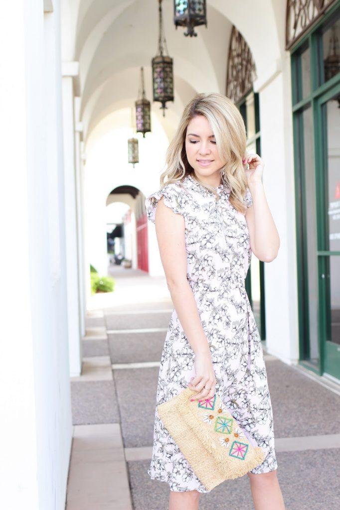 spring - dress - floral - ruffle dress