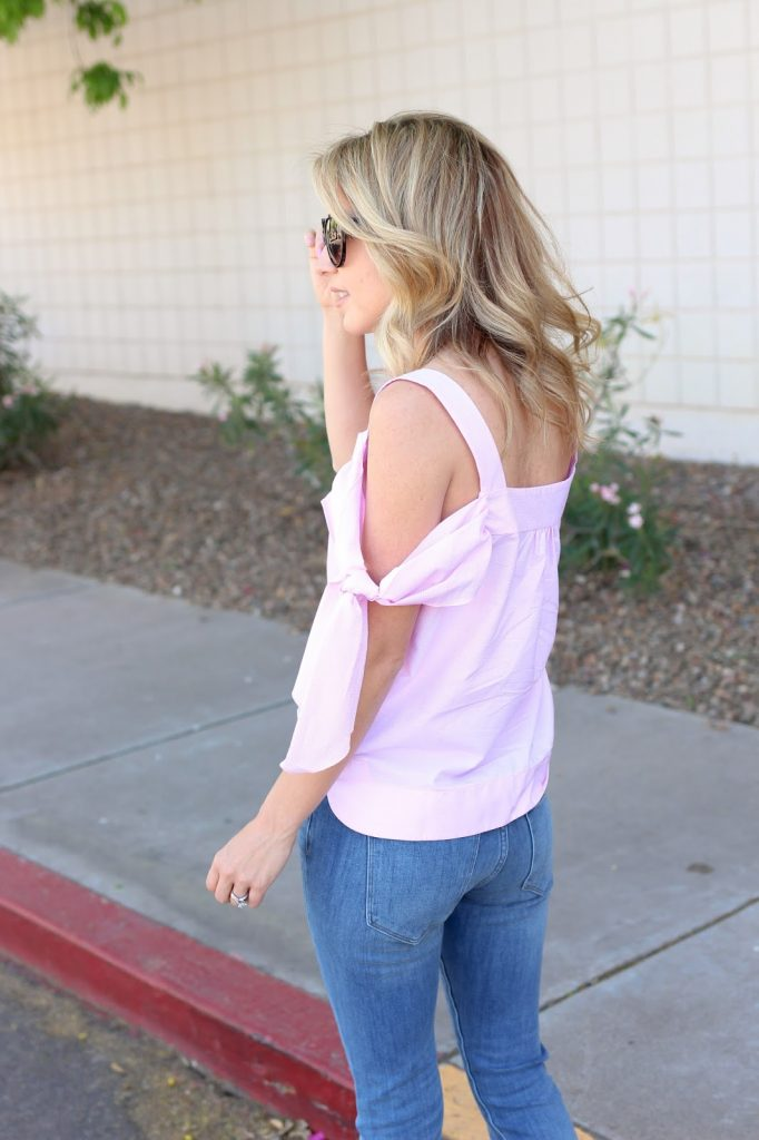 denim - pink - banana republic - simply sutter - fashion