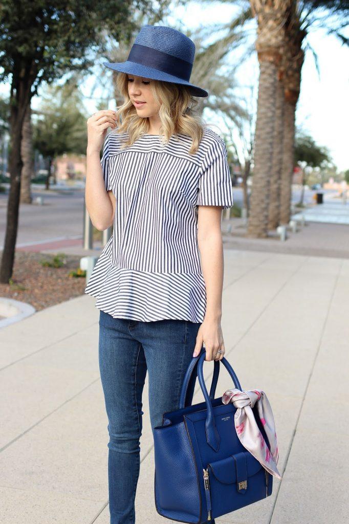 fashion blogger - style - denim - top