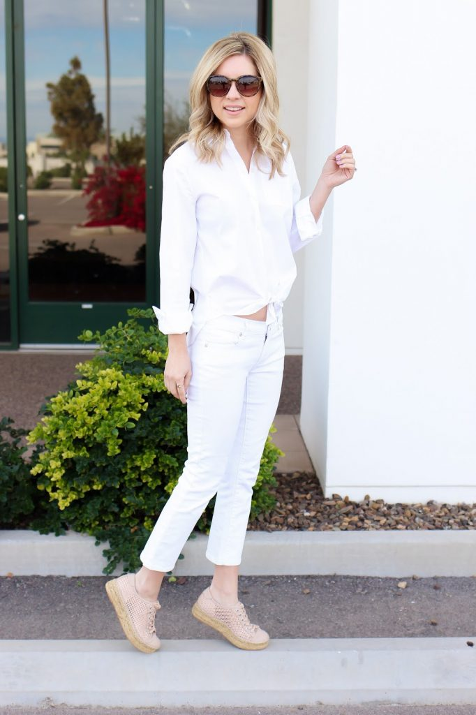 sneakers - spring style - white outfit - casual fashion