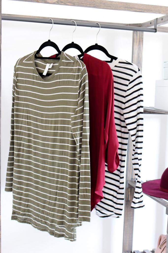 fall shirts - stripe shirts - fall outfit