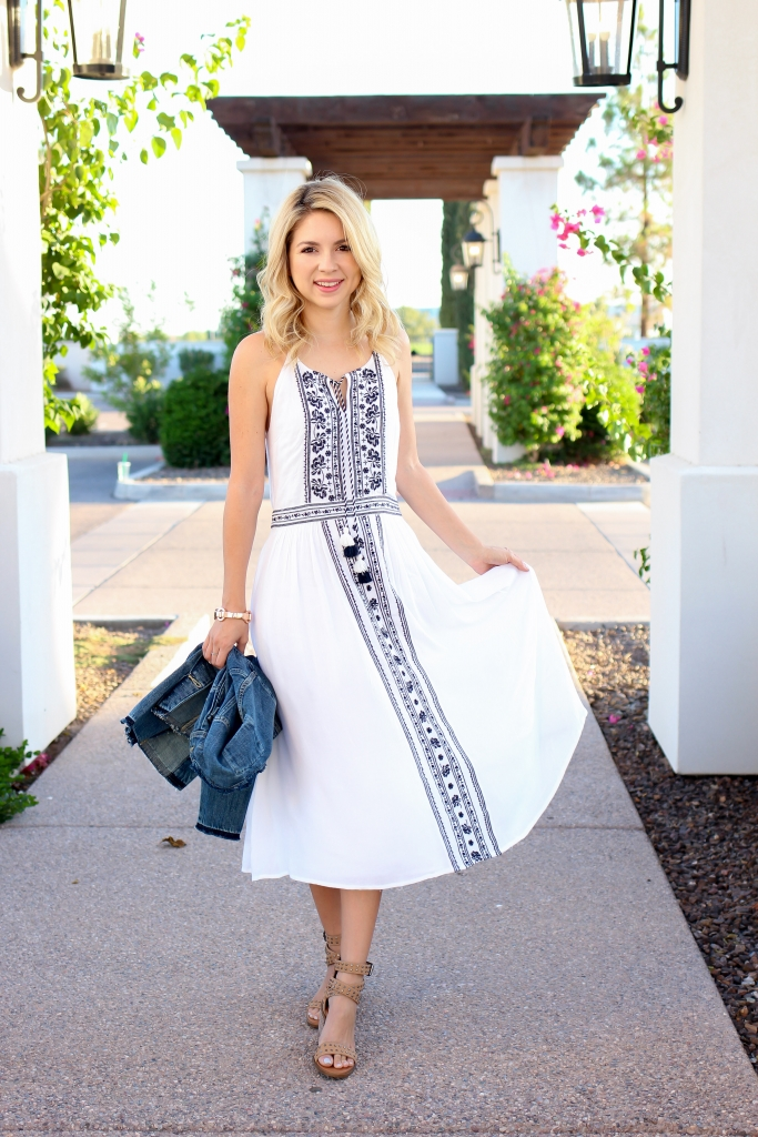 Simply Sutter - embroidered dress - summer style - white dress - summer dress