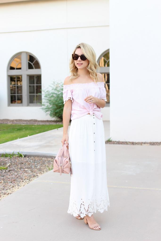 maxi skirt - summer skirt - astr the label skirt