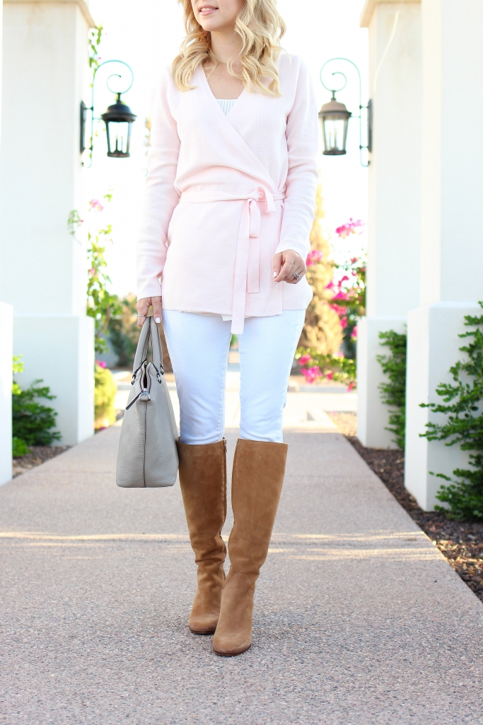 Simply Sutter - casual style - boots and jeans - wrap sweater
