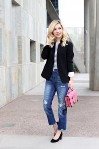 Simply Sutter - Casual Blazer - Girlfriend Jeans - studded heels
