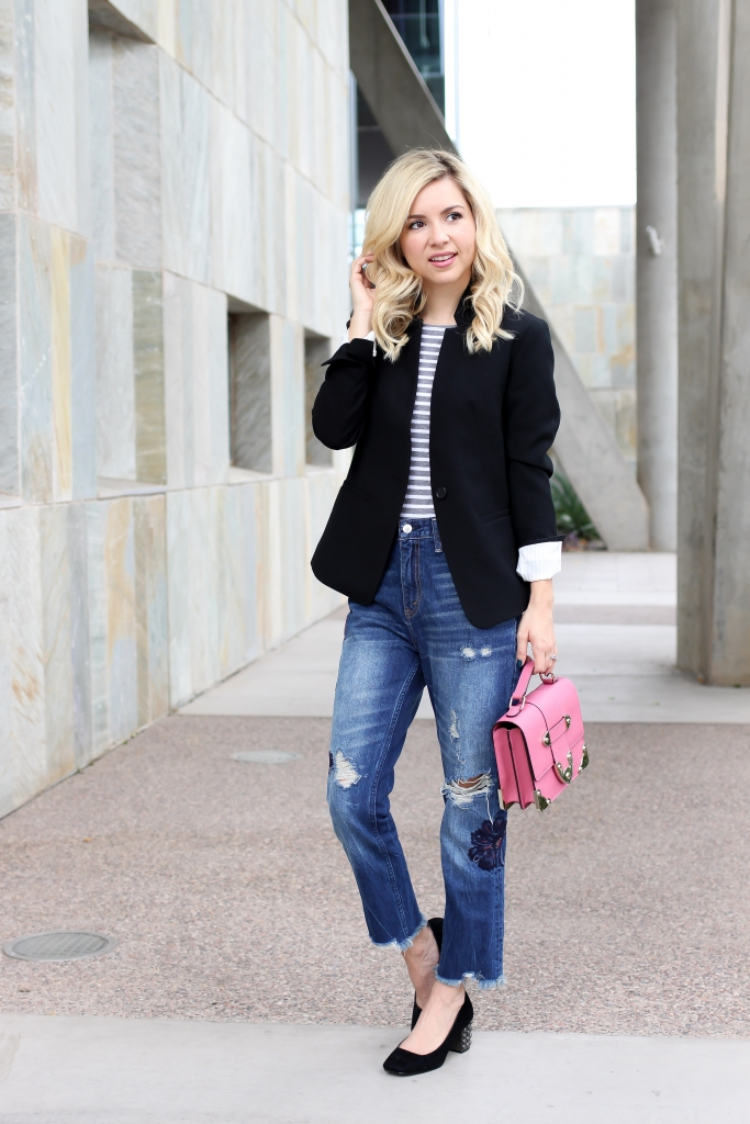 Simply Sutter - Casual Blazer - Girlfriend Jeans - studded heels