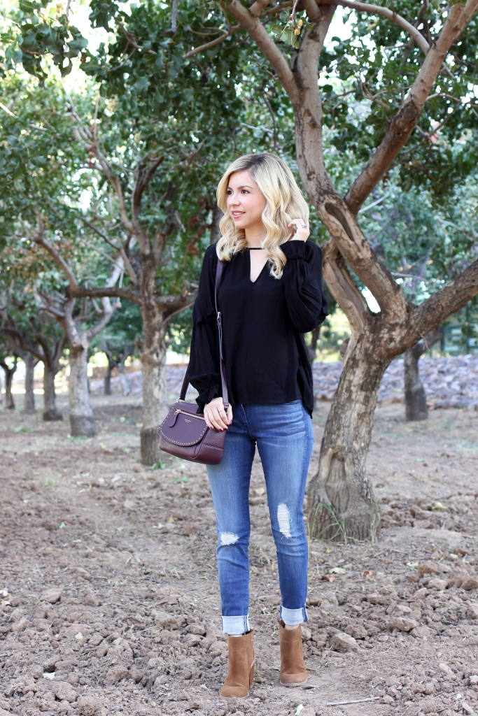 Simply Sutter - Casual Outfit - blouse - ruffle top and jeans