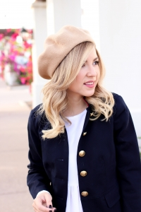 Simply Sutter - Fashion - Fall Outfit - beret - military jacket