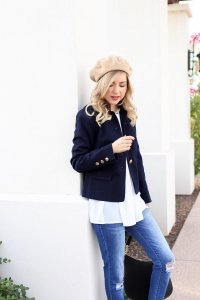 Simply Sutter - Fall outfit - twill jacket - beret