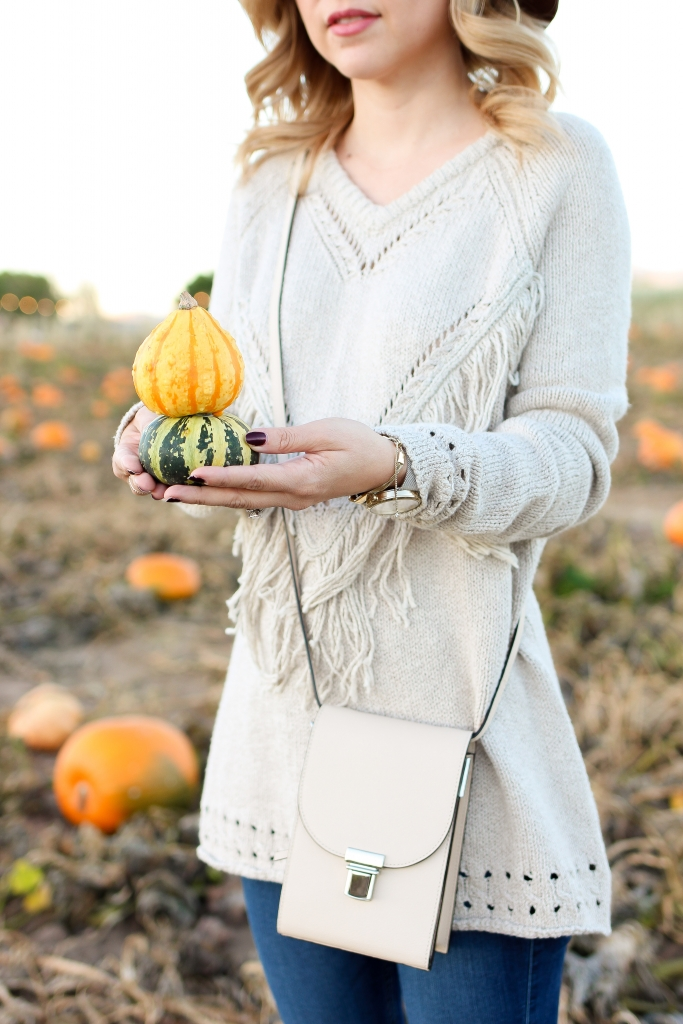 Simply Sutter - Fringe sweater - fall outfit
