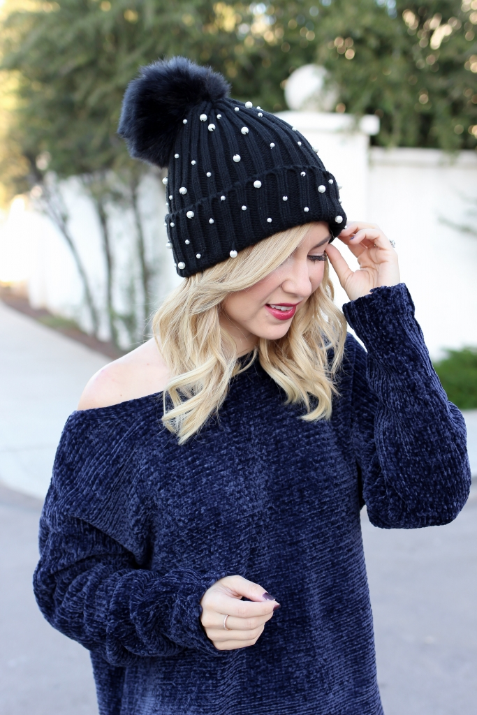 Simply Sutter - Chanille Sweater - Pearl Beanie - fall outfit - fall essentials