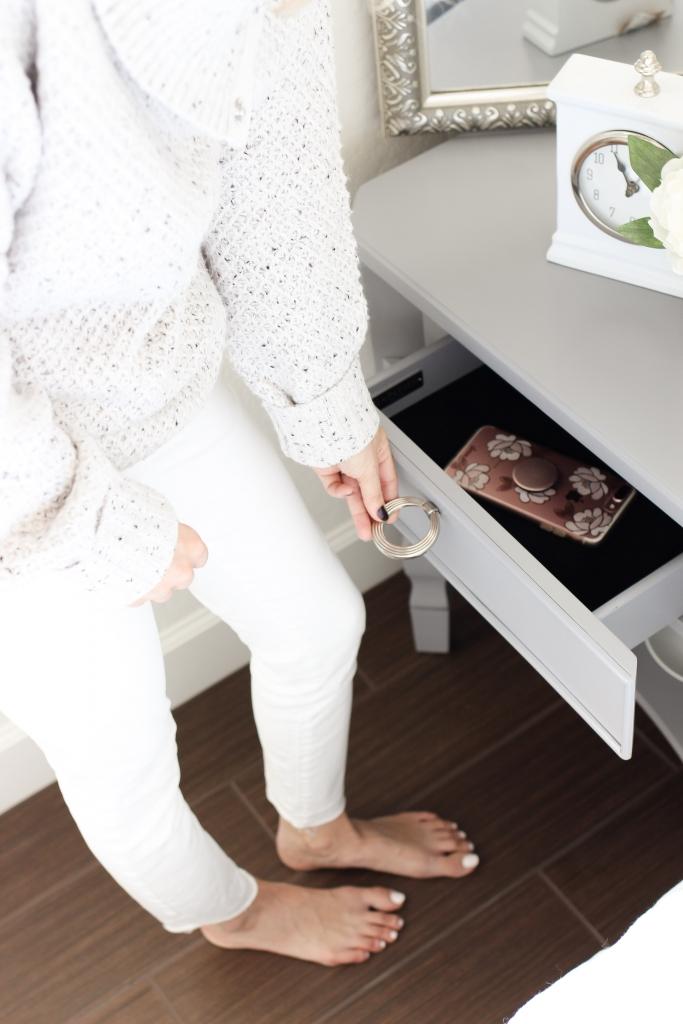 Simply Sutter - Joss and Main - Bedroom - grey nightstand