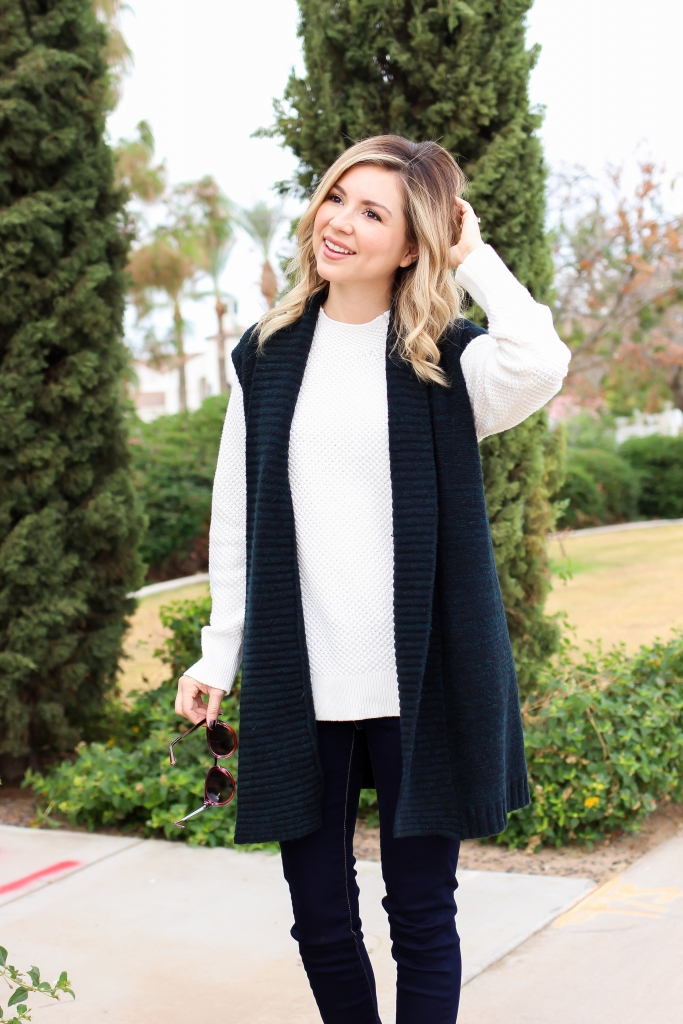 Simply Sutter - Sweater Vest - LOFT - sweater outfit