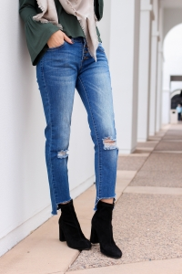 Simply Sutter - Hem Jeans - Sock Boots - boot outfit