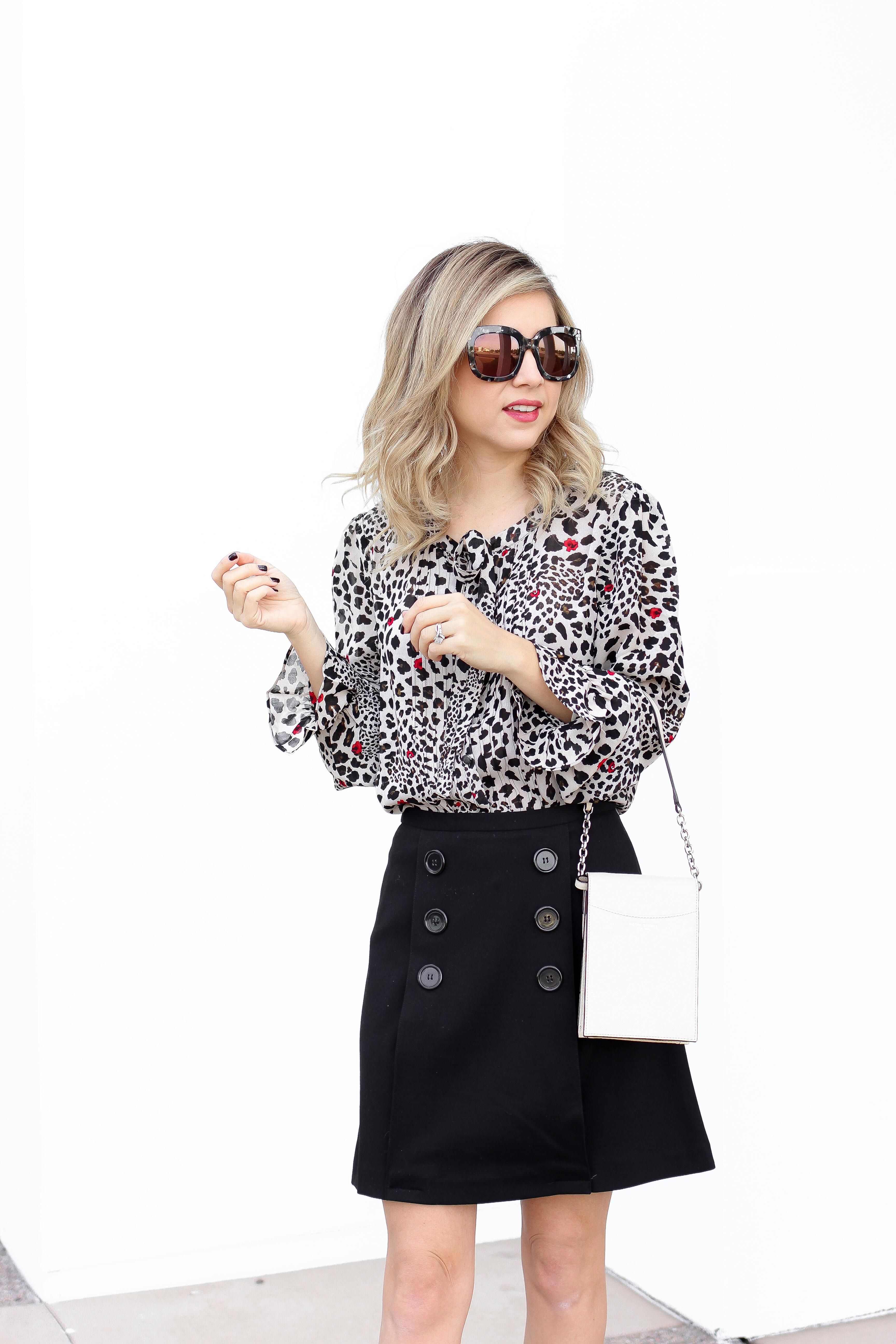 Simply Sutter - leopard blouse - button skirt