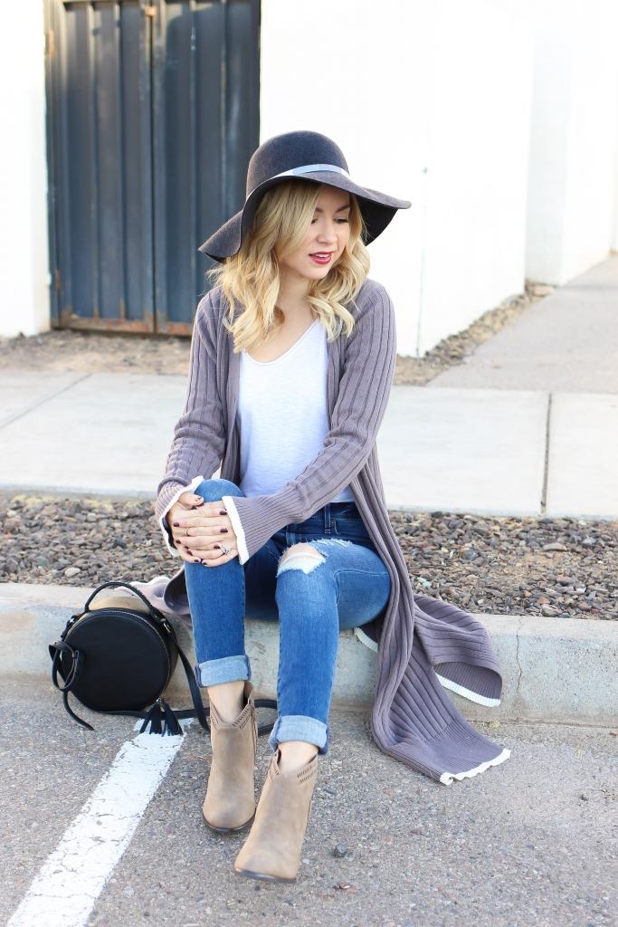 Simply Sutter - Floppy hat - long cardigan outfit
