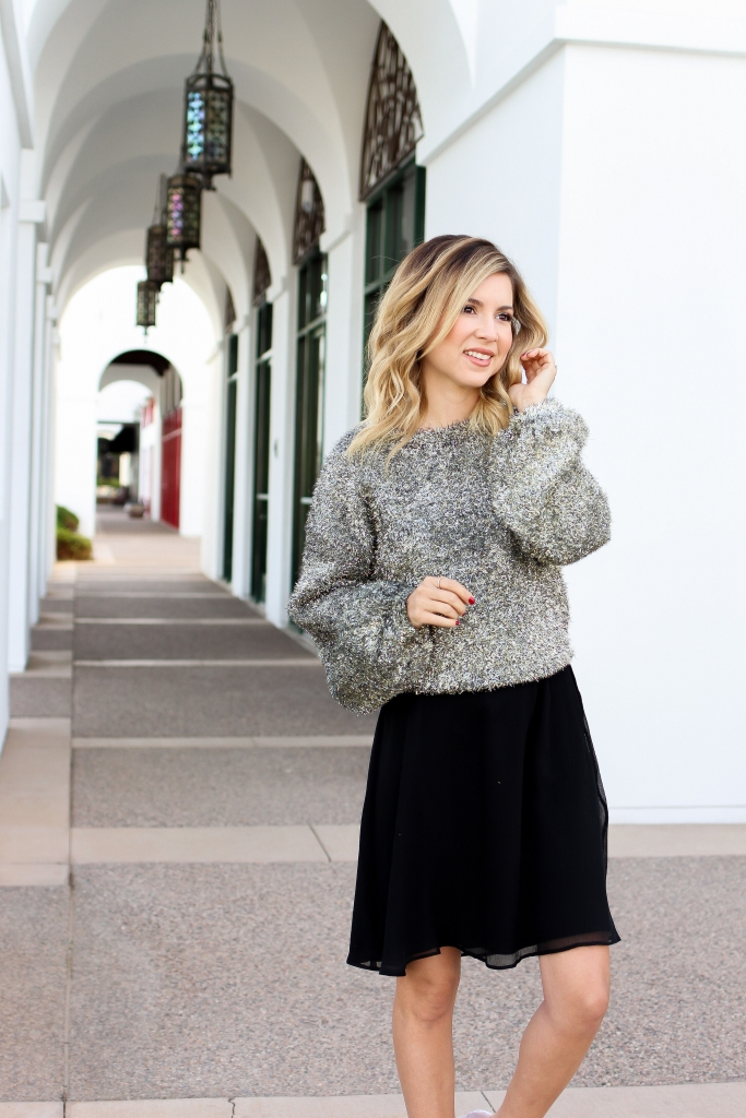 Simply Sutter - Nordstrom - Bow Heels - sparkle sweater