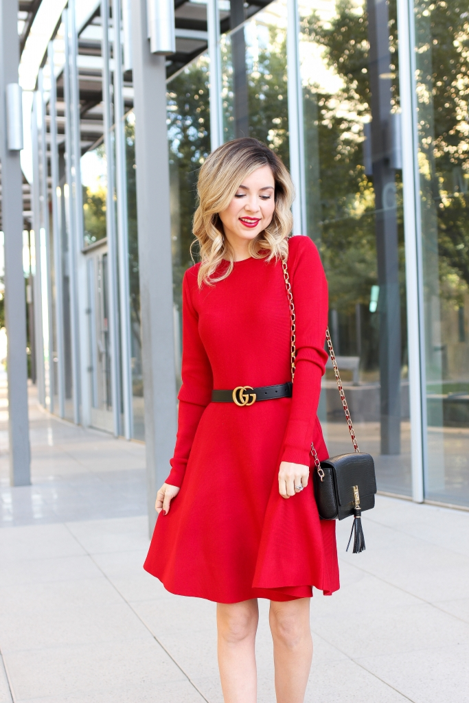 Simply Sutter - Christmas dress - red dress