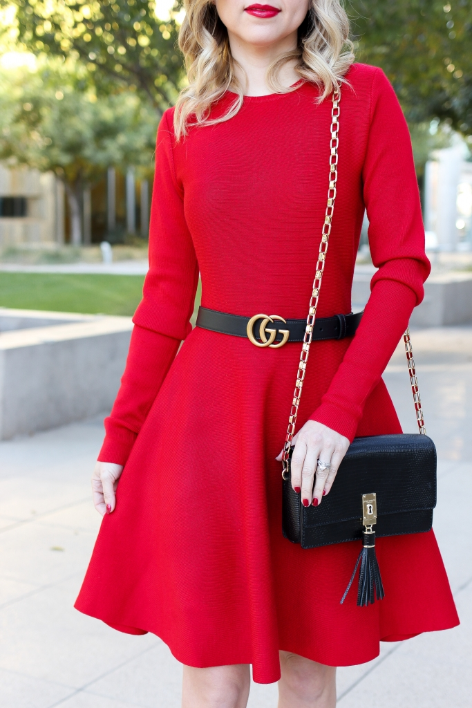 Simply Sutter - christmas outfit - red holiday dress