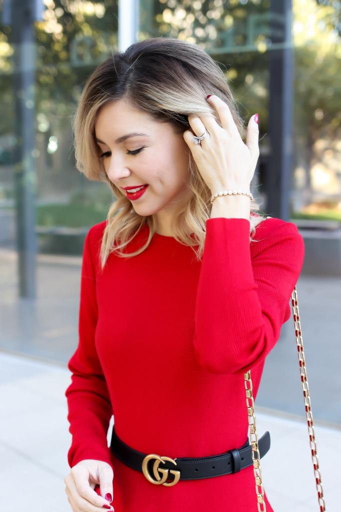 Simply Sutter - Holiday Dress - Red lips