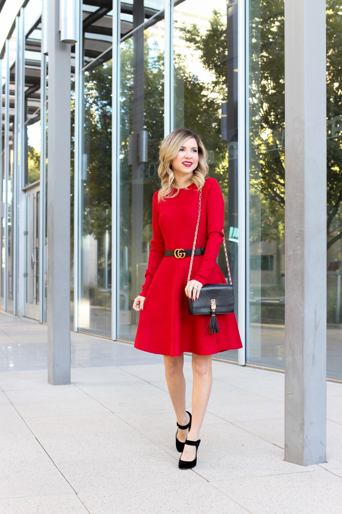 Simply Sutter - Red Dress - holiday style - holiday dress