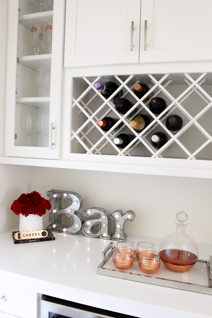 Simply Sutter - Overstock - Wine Fridge - Bar area - Bar decor