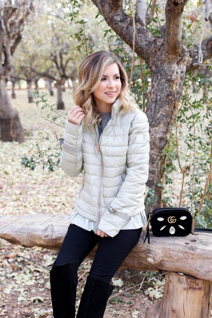 Simply Sutter - Puffer Coat - Bernardo - ruffle coat