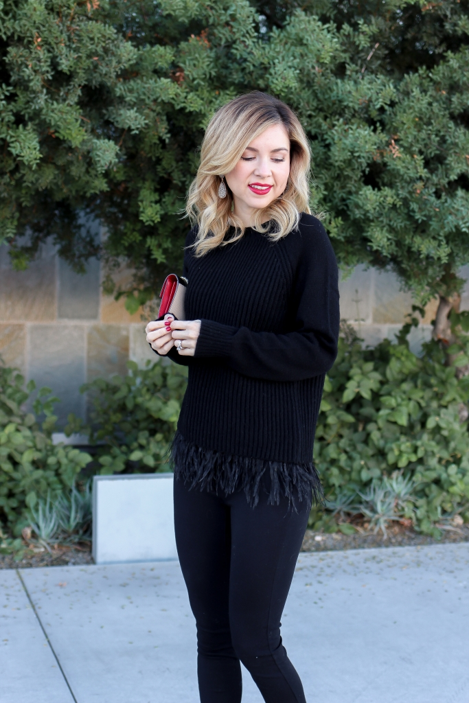 Simply Sutter - Feather Trim Sweater - Day To Night Style - Dillards
