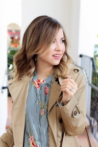 Simply Sutter - Trench coat style - stripe blouse - spring fashion