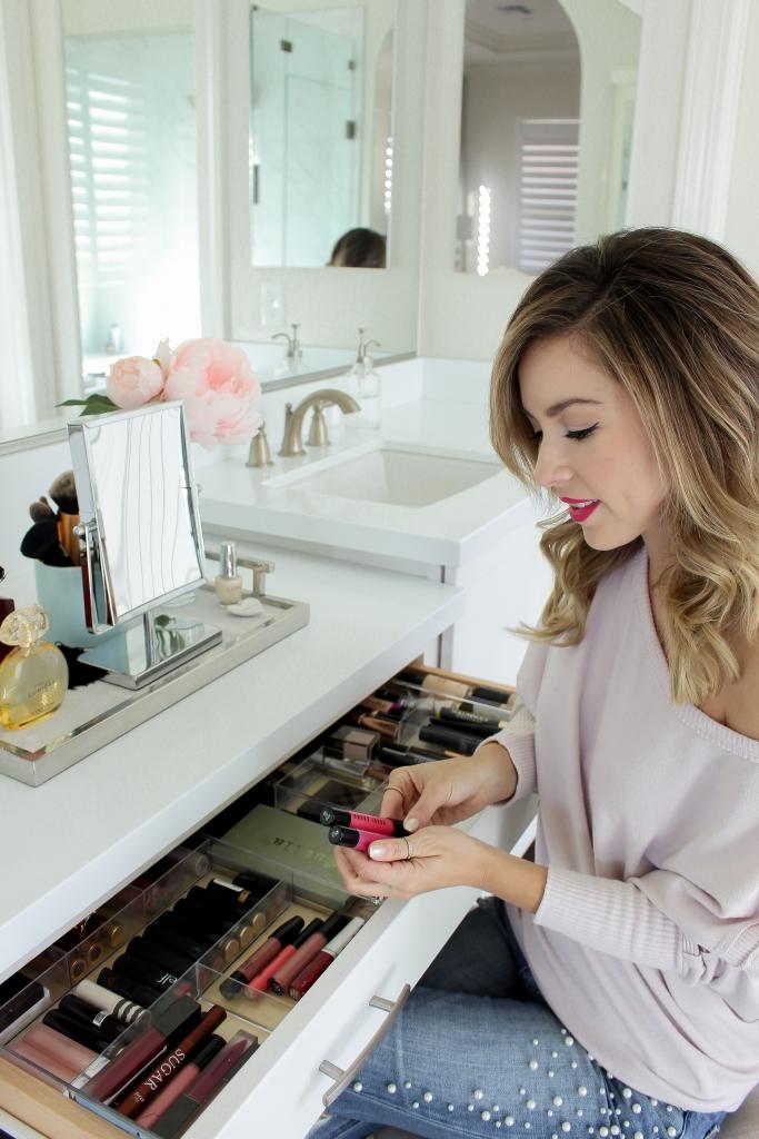Simply Sutter - How I organize my vanity - makeup vanity