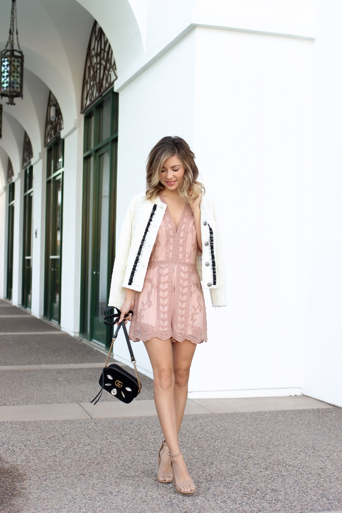 Simply Sutter - Lace romper - valentines day style - spring style