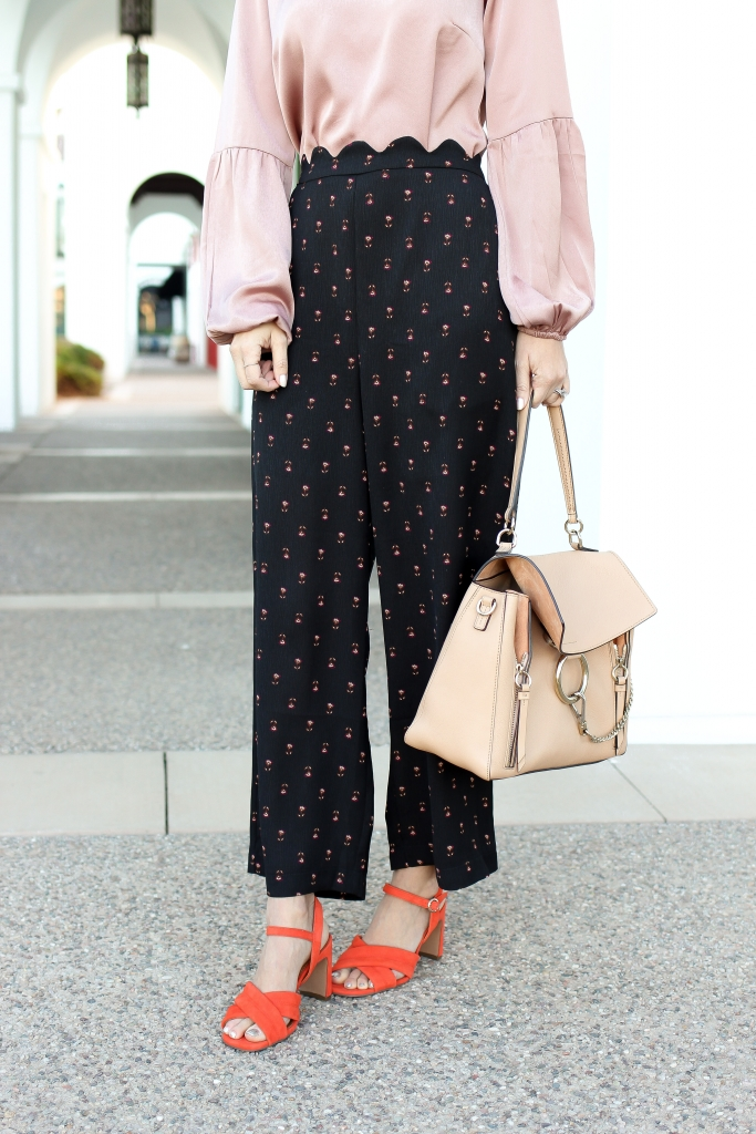Simply Sutter - Scalloped pants - chloe bag - pink blouse