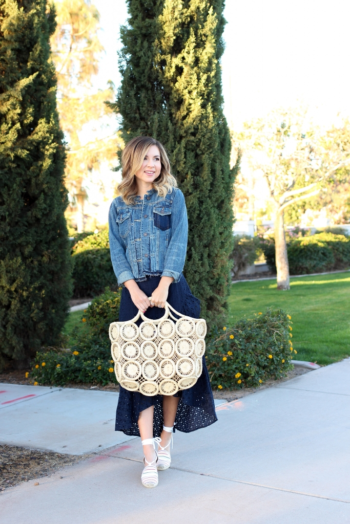 Simply Sutter - Spring outfit - skirt and denim jacket