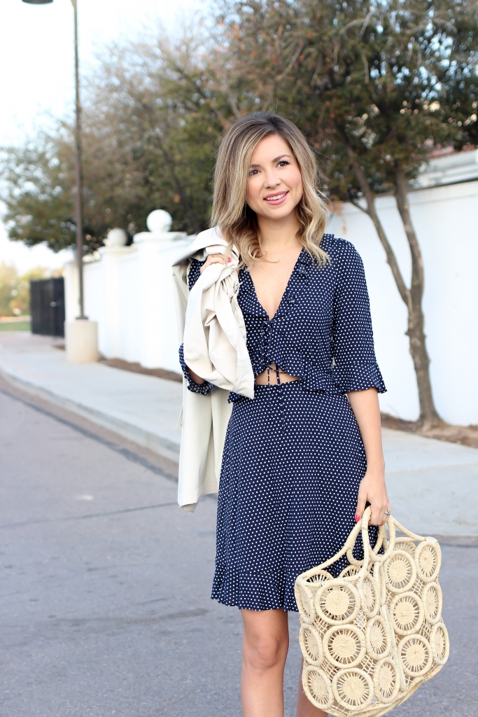 Simply Sutter - Polka Dot Dress - Dress and trench coat - spring style