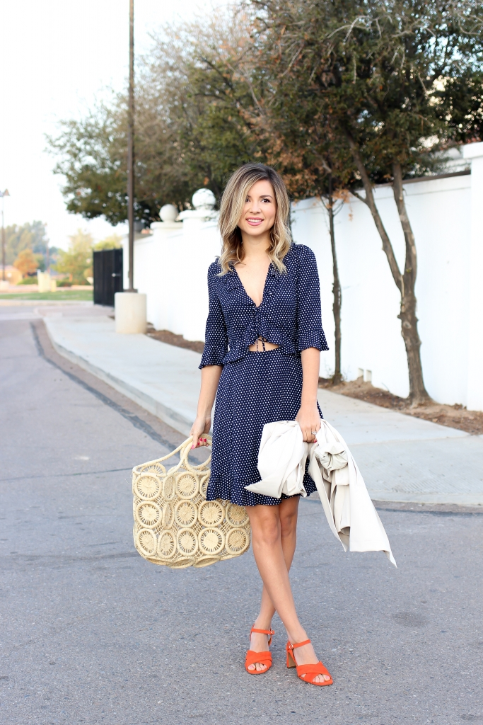 Simply Sutter - Polka Dot Dress - Trench coat - spring outfit