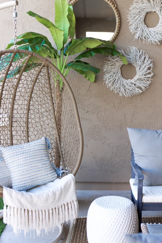 Simply Sutter - Patio Style - Hanging Chair - Statement patio wall - At Home
