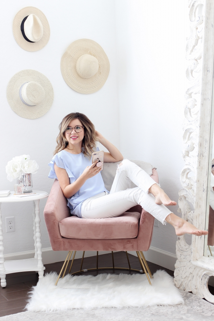 Simply Sutter - Coastal - Glasses - Eyewear - Spring Style - pink chair