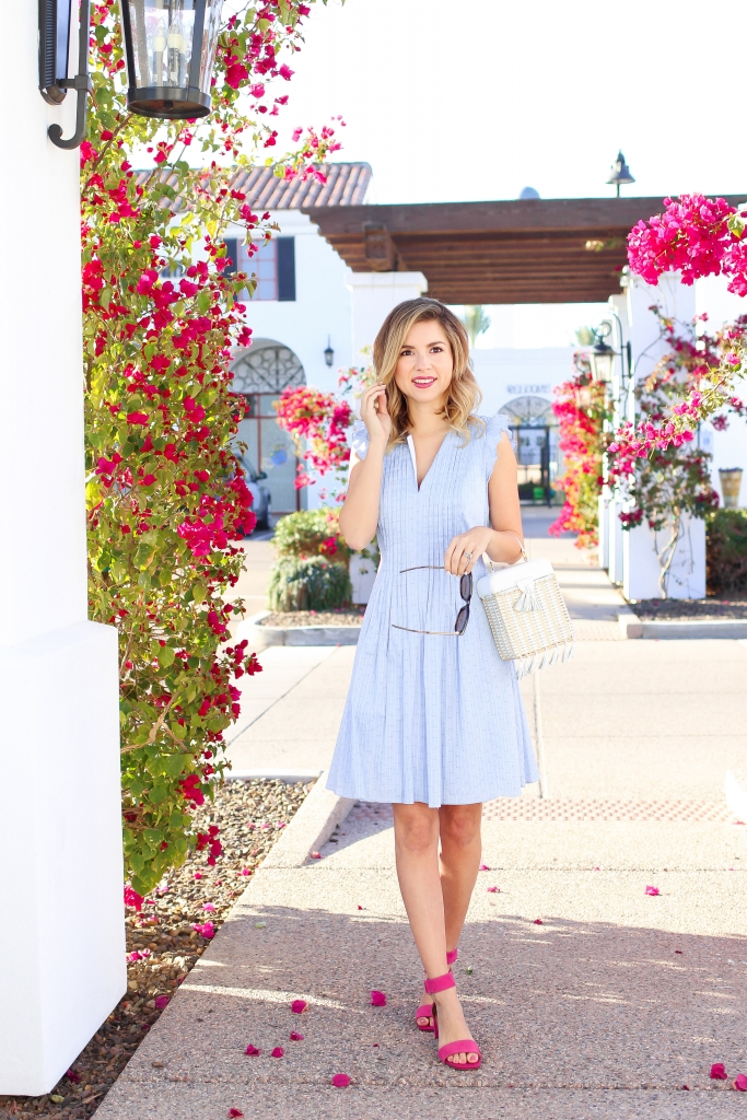 Simply Sutter - Spring Dress - Pink Heels - Spring Style