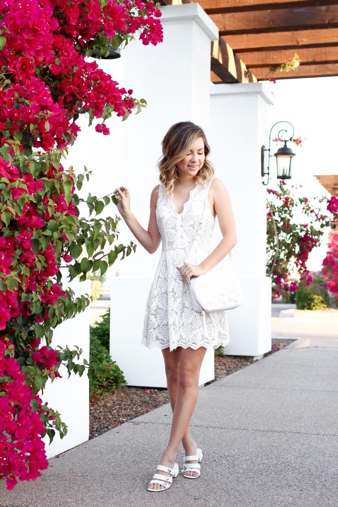 Simply Sutter - Francescas - White spring dress - white crossbody - spring look