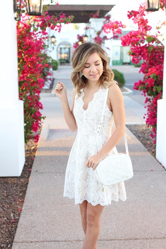 Simply Sutter - spring style - white dresses - white bag - francescas
