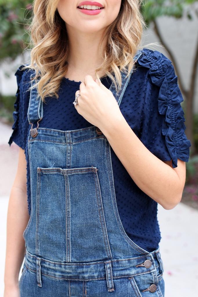 simply sutter - overalls - denim overalls - petite overalls