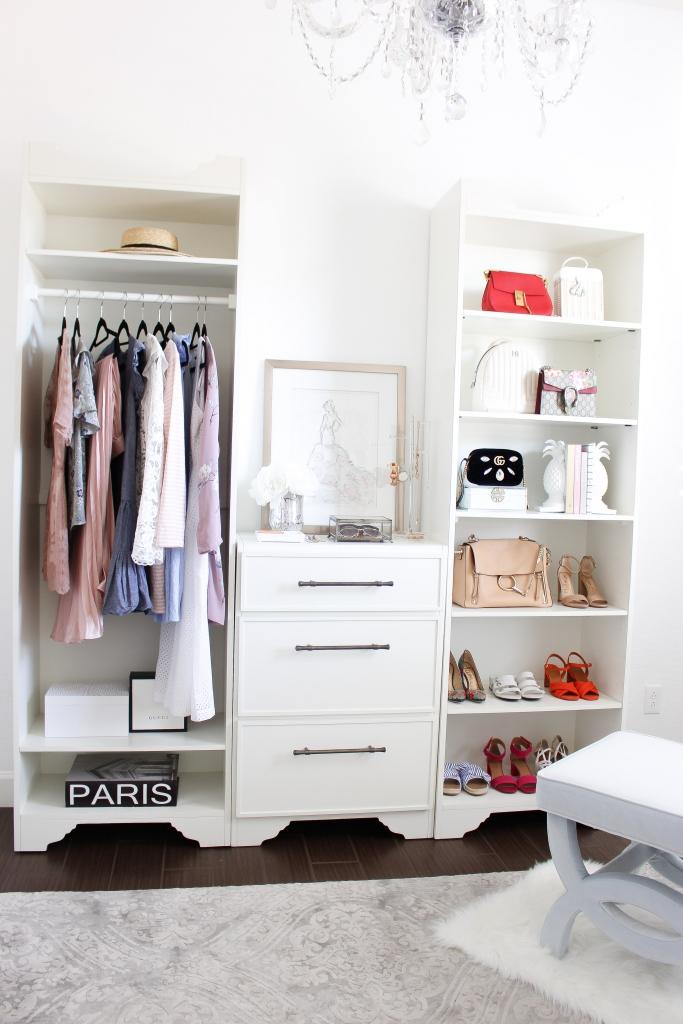 Simply Sutter - Ballard Designs - Sarah Storage Closet - Cloffice - closet