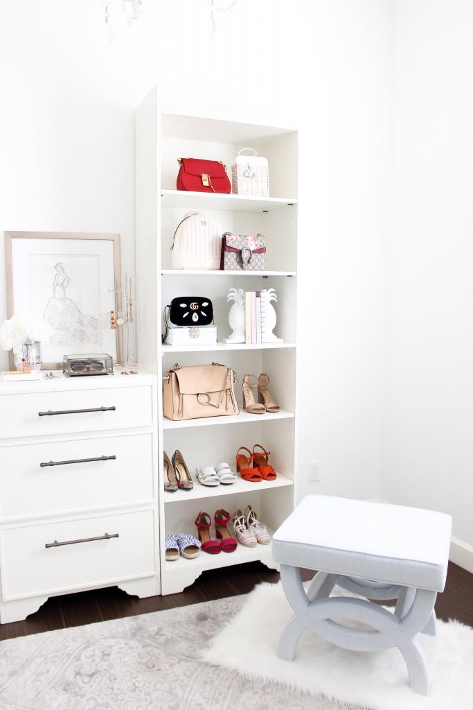 Simply Sutter - Studio Closet - Ballard Designs - organize shoes - white closet