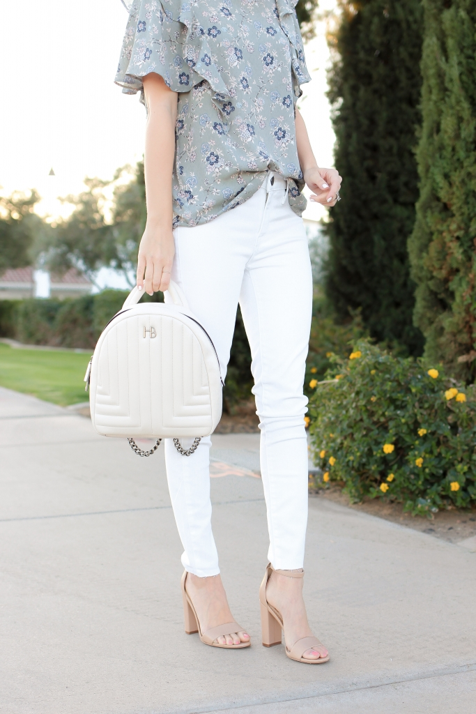Simply Sutter - white jean outfit - floral top