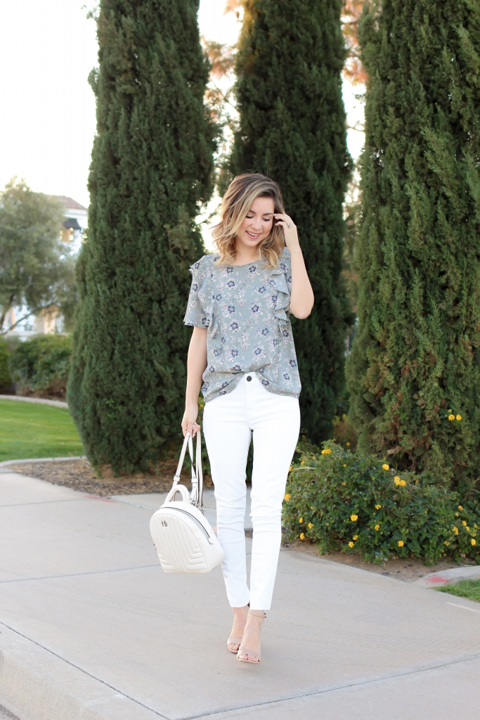 Simply Sutter - white denim outfit - spring style - spring fashion
