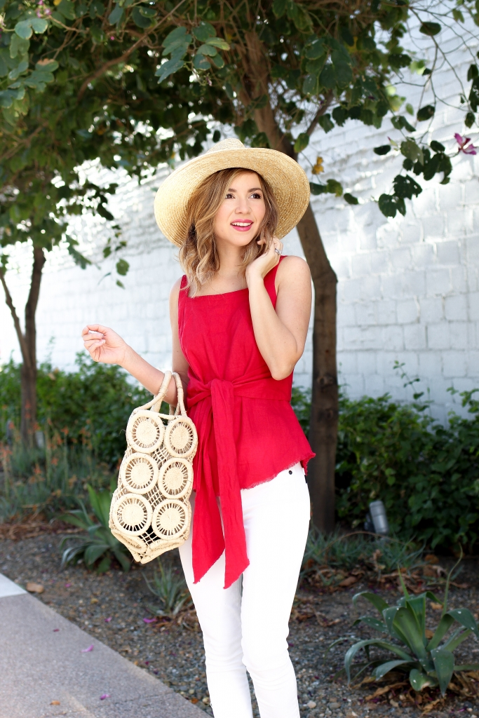 Simply Sutter - Red Tie Tank - Spring Style - Casual outfit